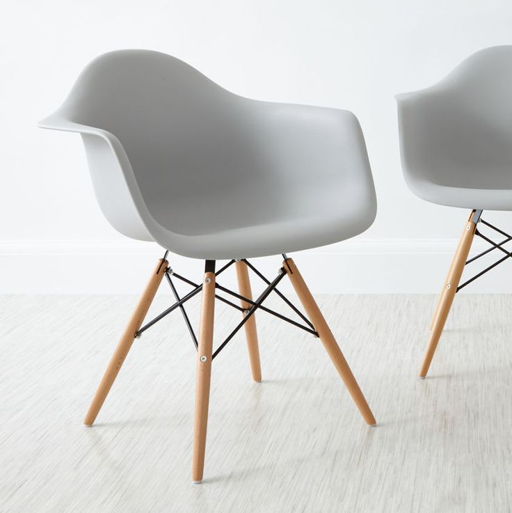 Eames Style Dining Armchair in cool grey from Danetti.