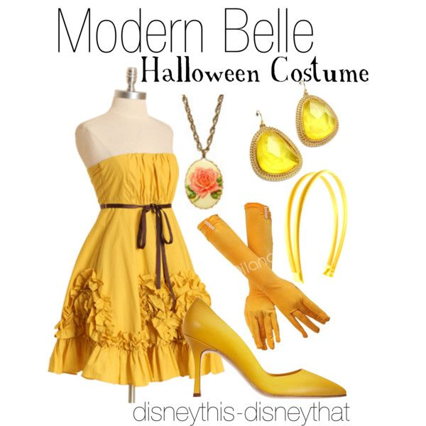 """""""Modern Belle- Halloween Costume"""" by disneythis-disneythat on Polyvore"""