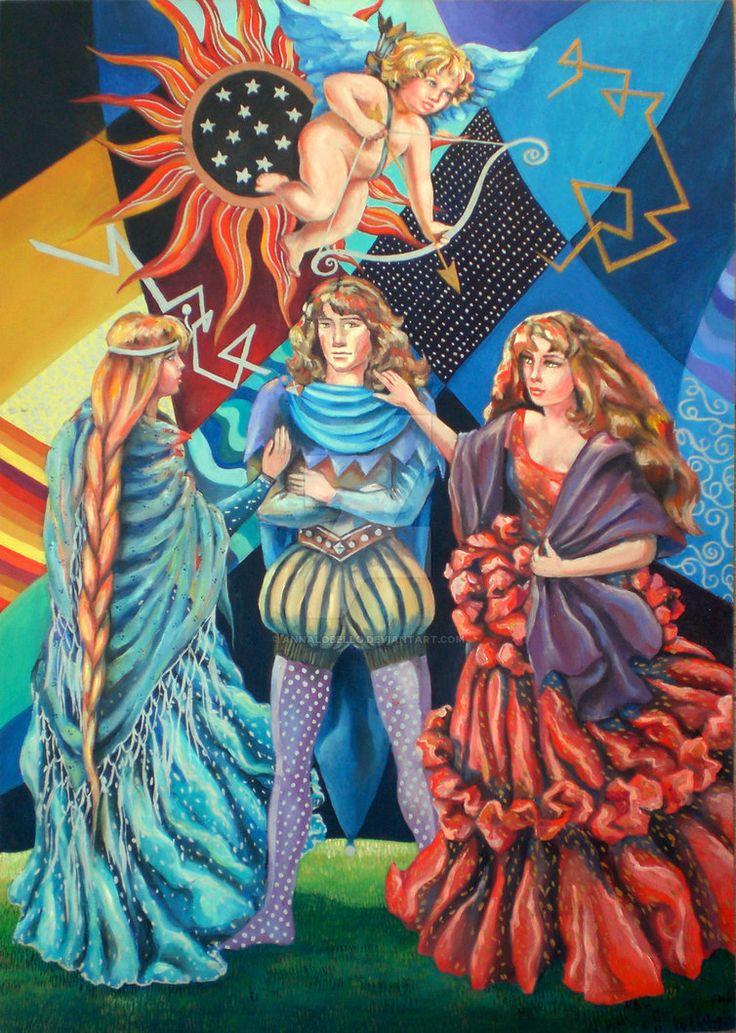 the tarot - The Lovers 6 oil on panel 50x70 cm