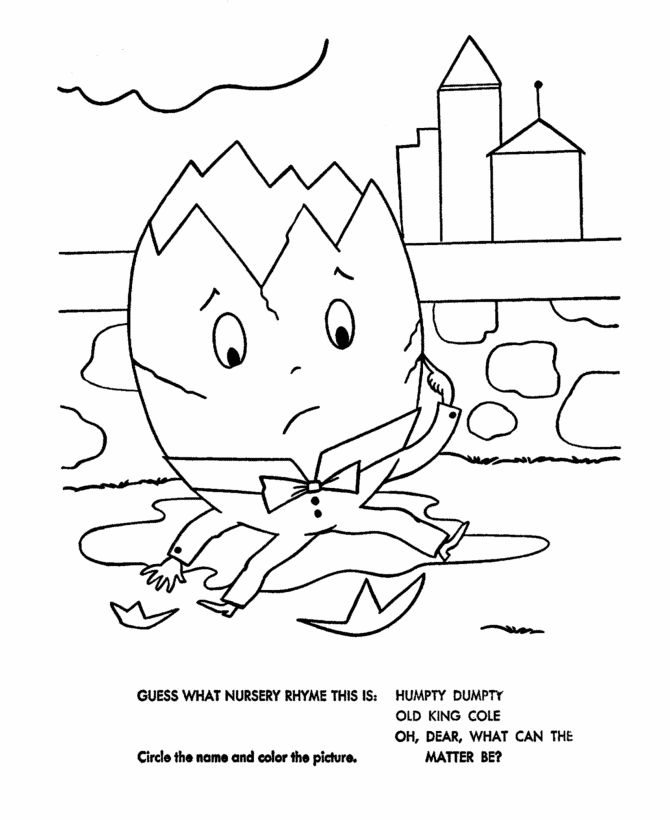 humpty dumpty coloring pages - photo#7