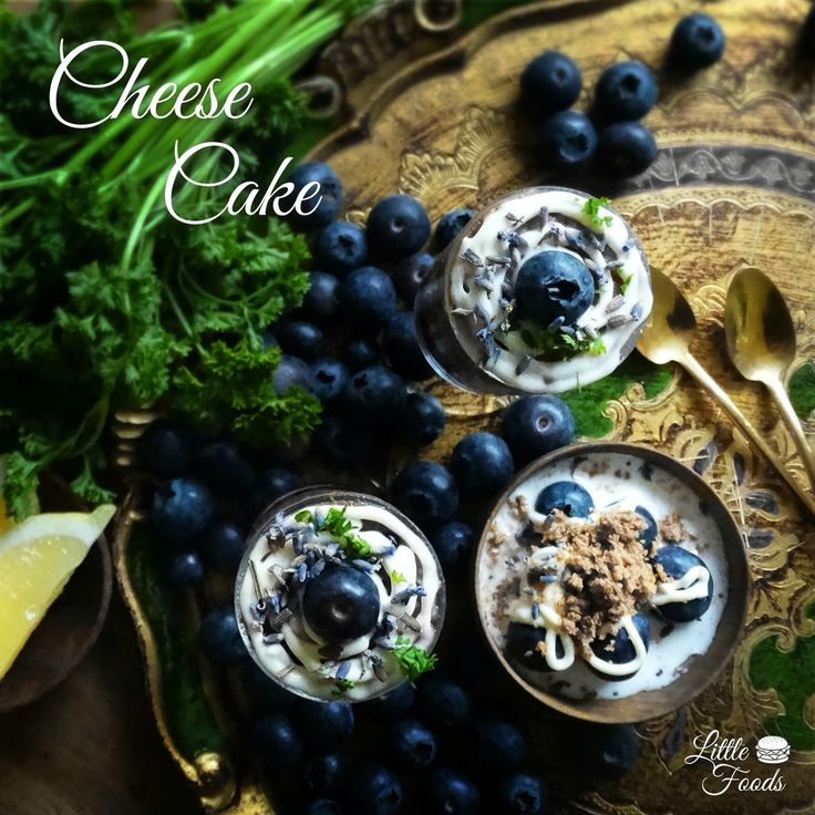 Cheese cake with blueberries by Little Foods
