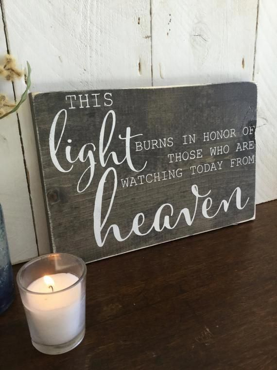 Wedding Memorial Sign- Wood Wedding Sign – This Li…
