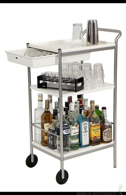 ikea bygel utility cart to bar cart furniture pinterest. Black Bedroom Furniture Sets. Home Design Ideas