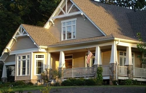 17 best images about home exteriors on pinterest 2nd for L shaped craftsman home plans