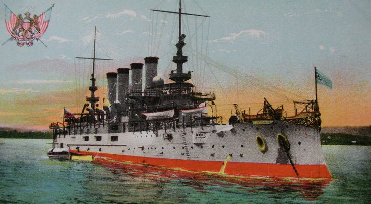 Armored Cruiser USS Pennsylvania, launched in 1903 from the Cramp's yard, she was renamed the Pittsburgh in 1912, and soldiered on until 1931