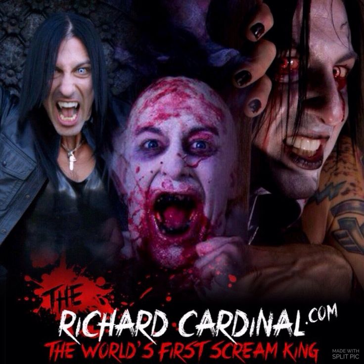Scream King The Richard Cardinal. Horror actor - horror model - genre producer. www.therichardcardinal.com