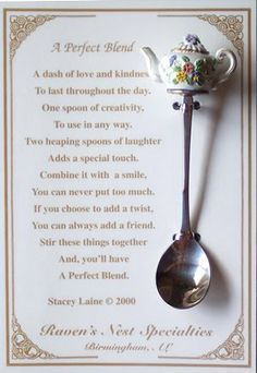 tea poems for friends - Google Search