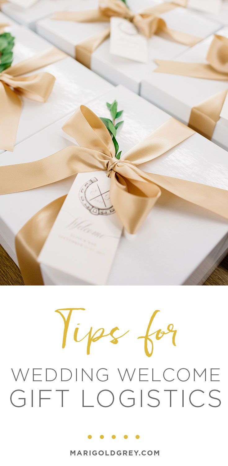 How To Avoid Logistical Mistakes With Your Wedding Welcome Gifts