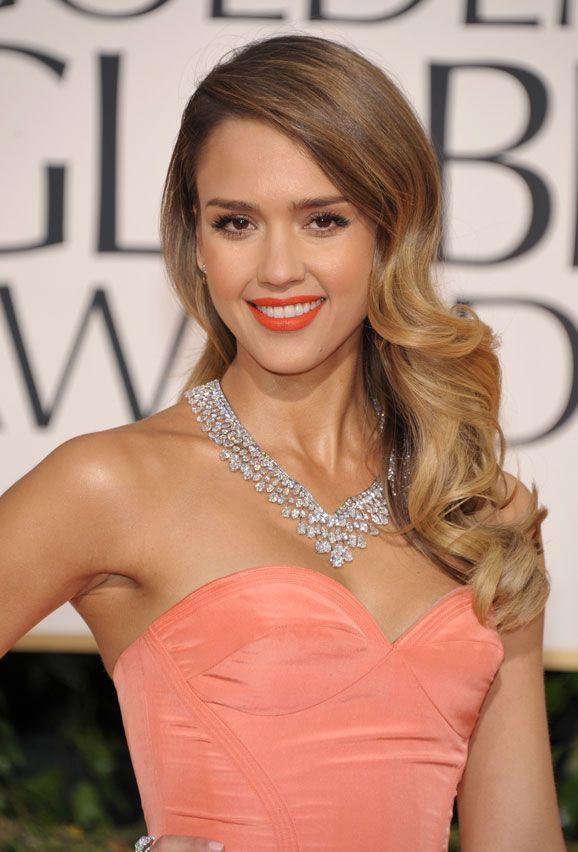 Peinados Con Ondas En Los Globos De Oro Boda Jessica Alba