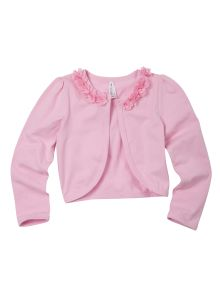 Party Princess Cardigan with Chiffon Flower Neckline product photo