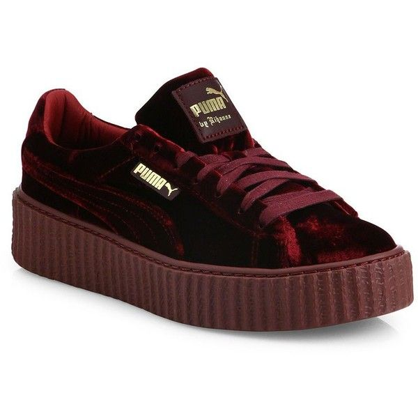 puma shoes rihanna velvet. fenty puma x rihanna velvet creeper platform sneakers ($160) ❤ liked on polyvore featuring shoes