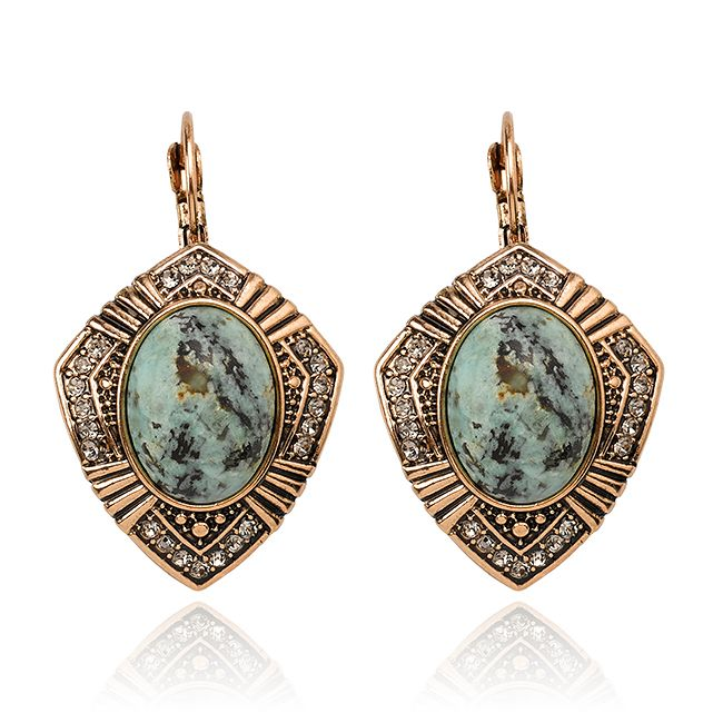 I so love these-DREAM WITH ME DROP EARRINGS - MOSS GREEN- Samantha Wills