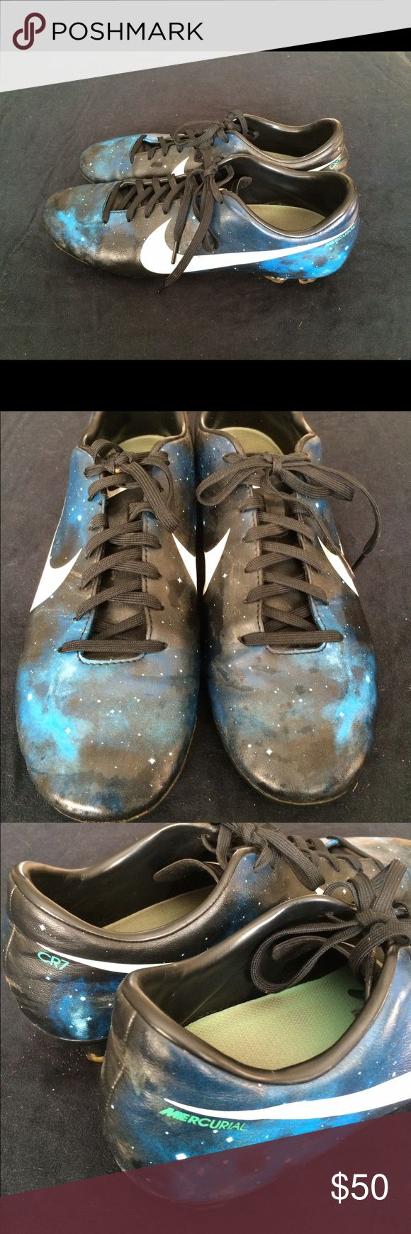 Nike MERCURIAL CR7 Soccer Cleats Mens Nike Mercurial CR 7 Soccer Cleats. Overall very good condition Nike Shoes Athletic Shoes