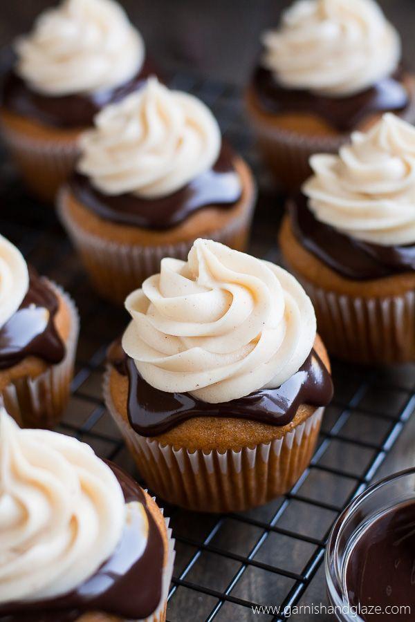 Chocolate Covered Pumpkin Cupcakes