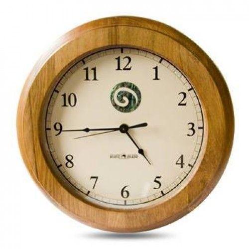 Paua Swirl Rimu Clock
