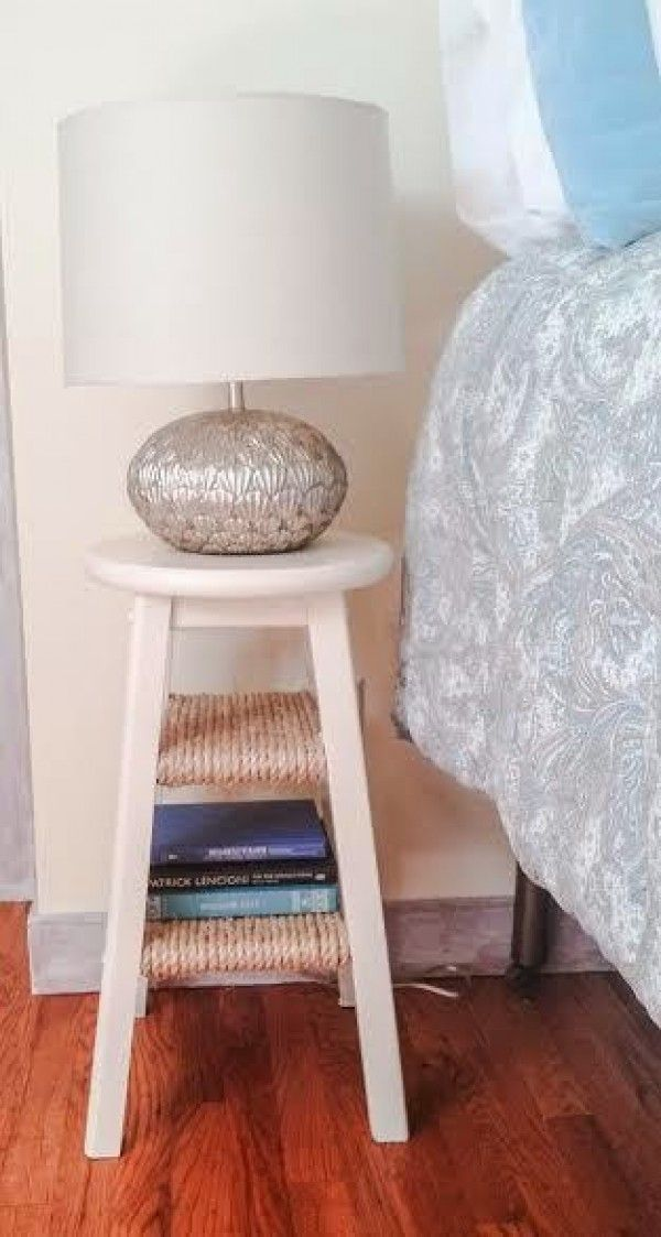 Awesome use of an old stool for a unique nightstand @istandarddesign