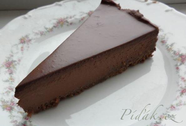 čokoládový cheesecake: (prima www) 1x BB keksy 100g masla 500g tvarohu - nízkotučný 250 ml šľahačky 300 g čokolády na varenie alebo horkej čokolády Na polevu: 140 ml šľahačky 100 g čokolády