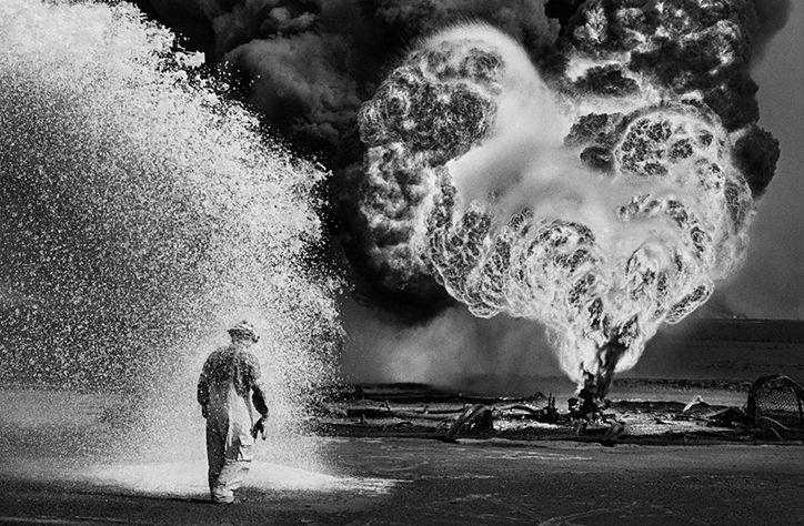 Taschen's monograph features Sabastião Salgado's powerful photographs of the Kuwaiti oil fires.