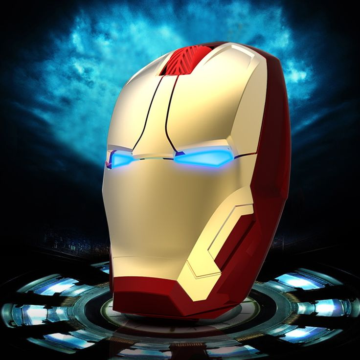 Popular Iron Man Light Mouse Ergonomic Silent Gaming Mice 2.4G Cool Light-Emitting eyes Wireless Mouse For Laptop Computer Gamer