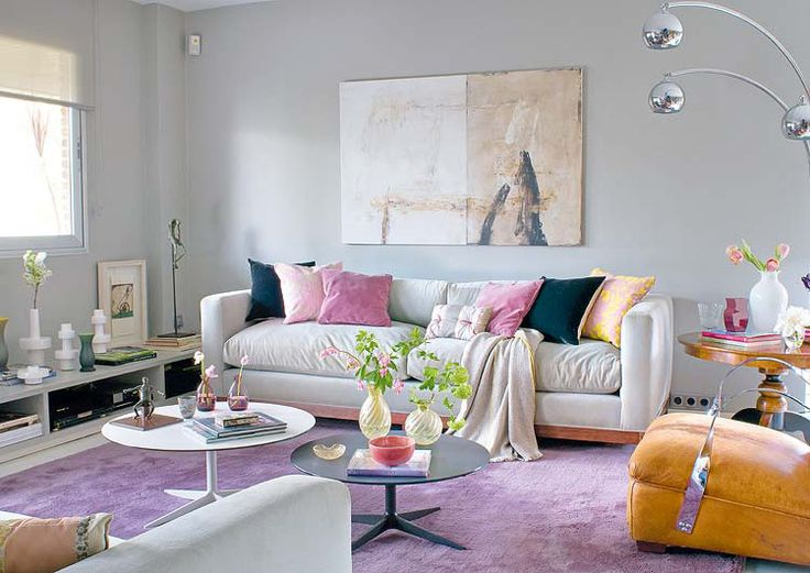 purple yellow living room design for the home pinterest
