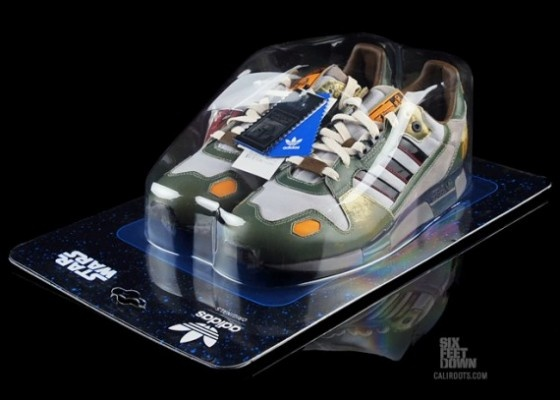 Boba Fett ZX 800 adidas in blister pack – treating shoes like toys with the packagingPolina Sapershteyn