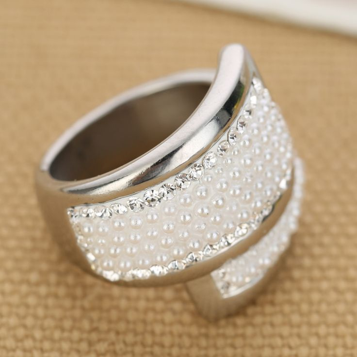 316L Stainless steel Creative Beads Women Wedding Rings