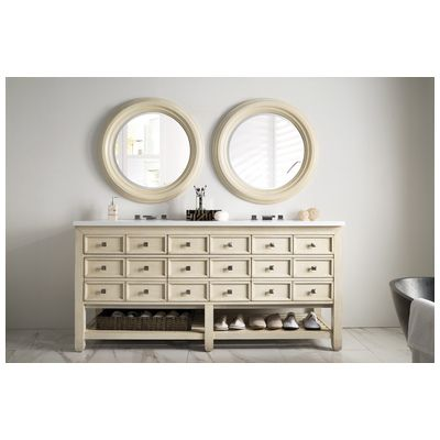 "Best Deal - James Martin Victoria 69"" Double Bathroom Vanity, Vanilla Oak w/ Snow White Quartz Top 506-V69D-VNO-SN"