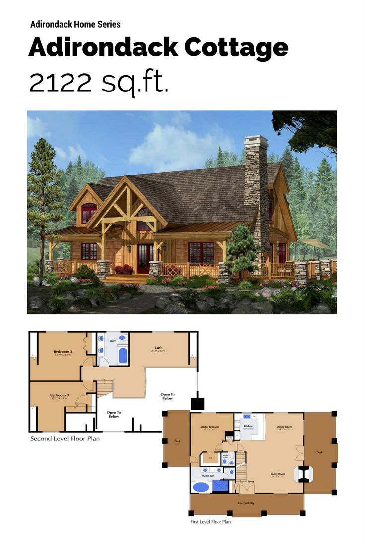 Timber  stone log siding and twig details typify the Adirondack style initiated by 125 best Floor Plans images on Pinterest