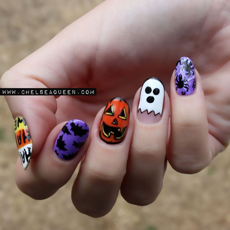 Halloween Nail Art Designs Gallery: 121 Best Halloween Nails & Makeup Images On Pinterest