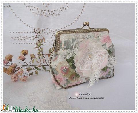 Romantika. Pasztell rózsaszín, vintage jellegű kézi táska. (Ilkamuvek) - Meska.hu