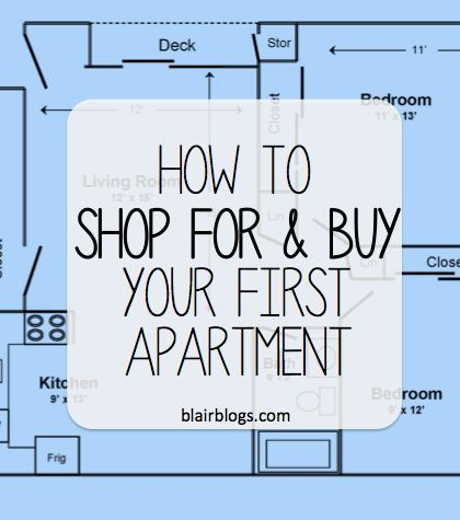 How to shop for and buy your first apartment | Blair Blogs