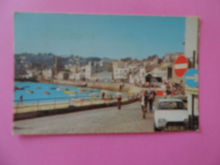 Vintage 1970s COLOUR POSTCARD - THE OLD TOWN ST IVES CORNWALL ENGLAND