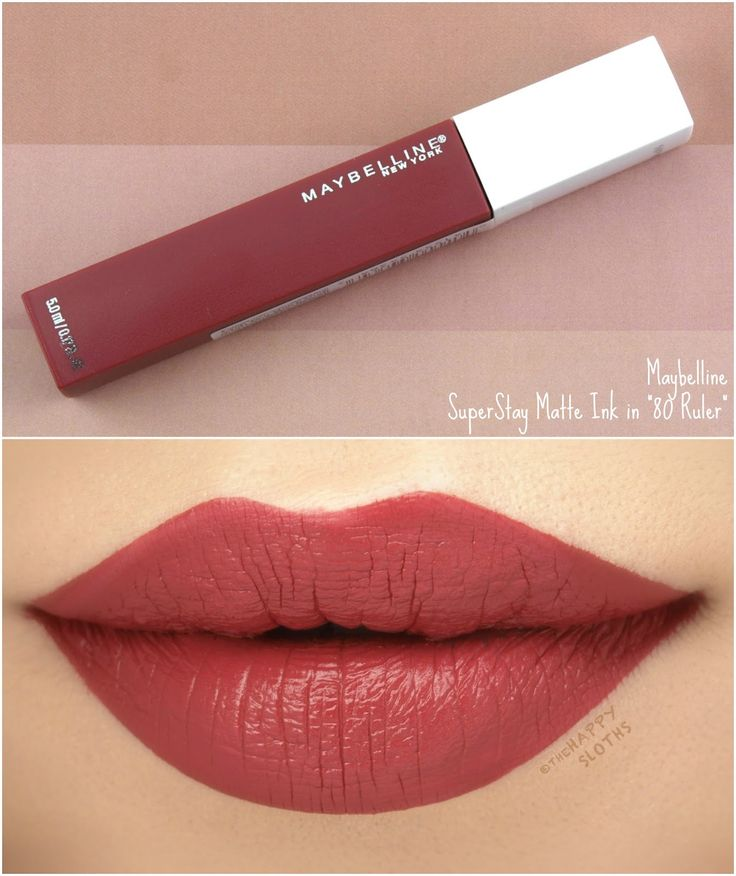 """Maybelline   SuperStay Matte Ink """"80 Ruler"""": Review and Swatches"""