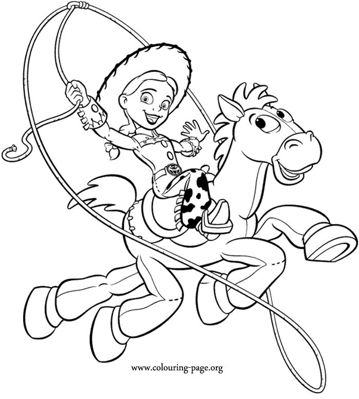 Heres A Nice Coloring Page Of Jessie Riding On Bullseye