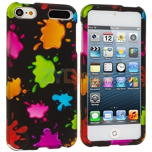 Green Pink Orange Blue Splash Case Skin Cover for iPod ...
