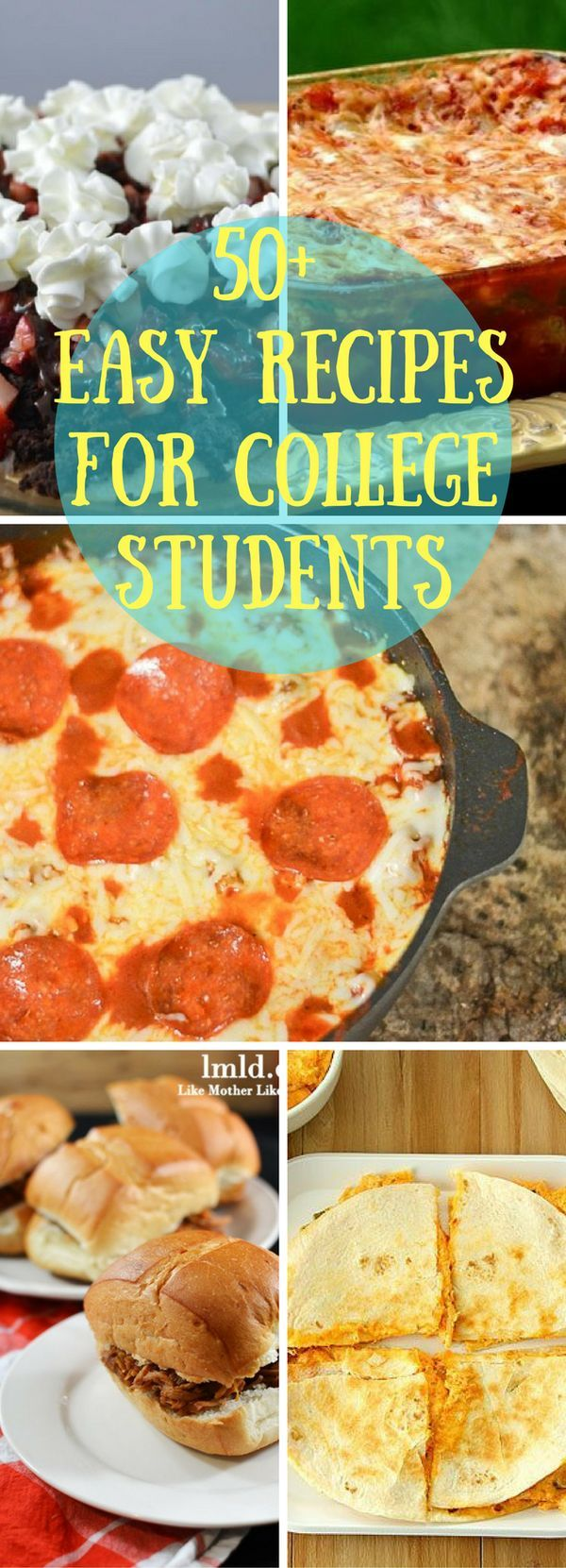 If you're looking for easy recipes, look no further! Here are 50+ easy recipes that are even easy for the busy life of a college student!