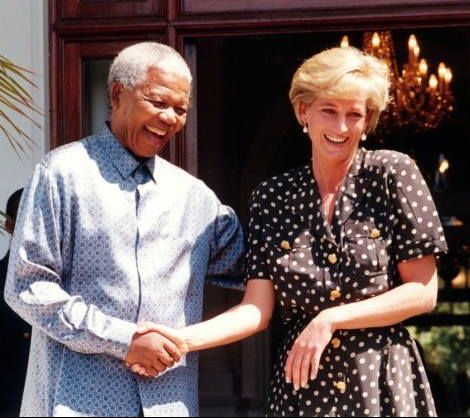 March 1997 Princess Diana with Mandella in South Africa. These were the only photos taken if her when she visited on holiday in 1997.