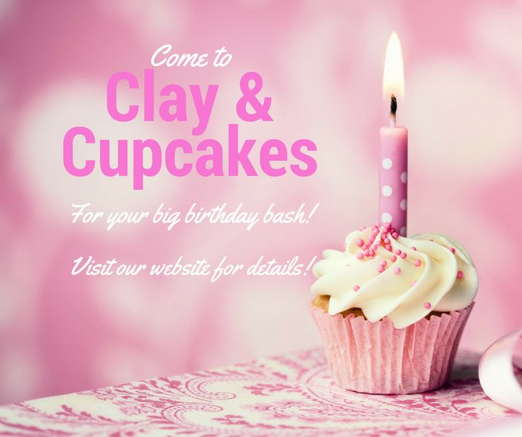 Celebrate your birthday with Clay & Cupcakes in Edmonton, AB & Corner Brook, NL! Canada's sweetest place to paint pottery!  Www.clayandcupcakes.com