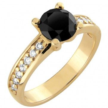 #Vihkisormus - Ougadougou - #MalminKorupaja. #Timanttisormus, #keltakulta, #mustatimantti. #Diamond #ring by Malmin Korupaja. #Wedding ring, #yellowgold, #blackdiamond.