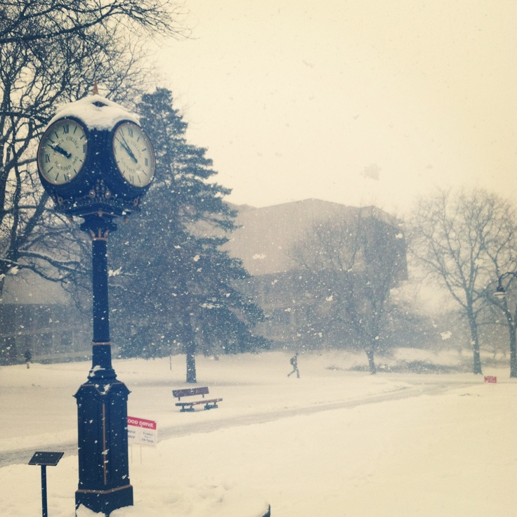 Ithaca College in the snow!