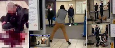 KnifeMan Slashes Another Mans Throat At Leytonstone Station Shouting This is for Syria blood will be spilled