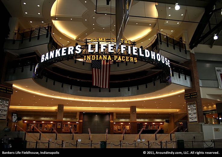 Bankers Life Fieldhouse - home to the Indiana Pacers and Fever! #Indy #Fieldhouse