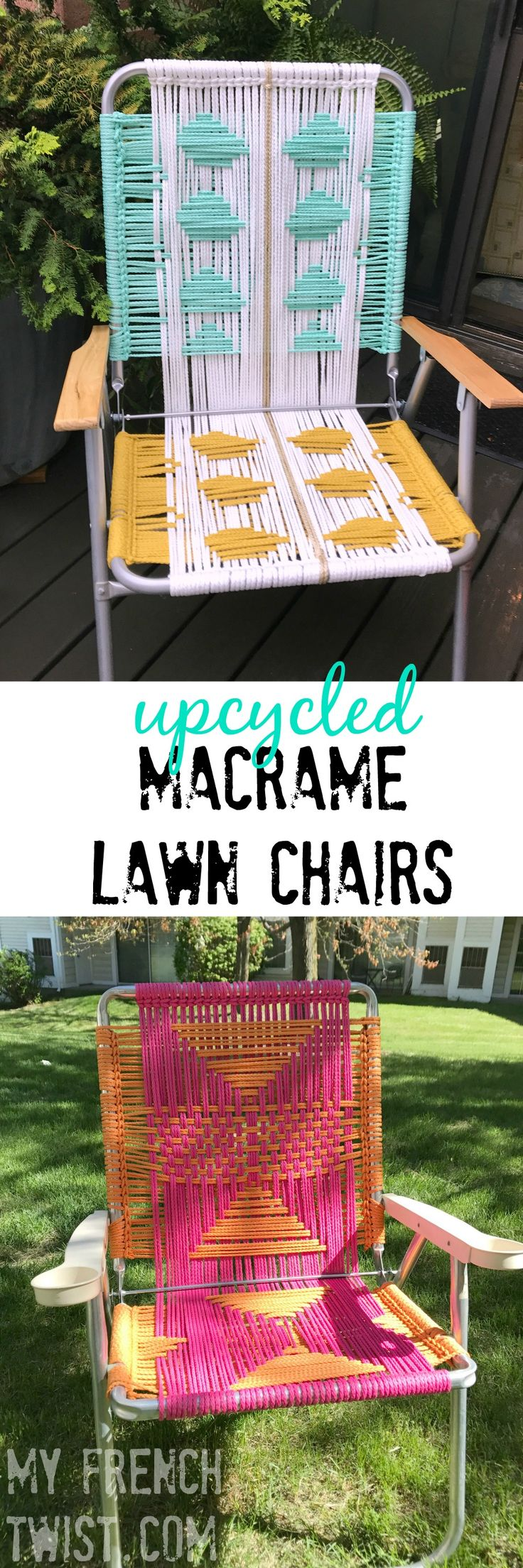 The macrame lawn chair tutorial you've been waiting for is here! myfrenchtwist.com