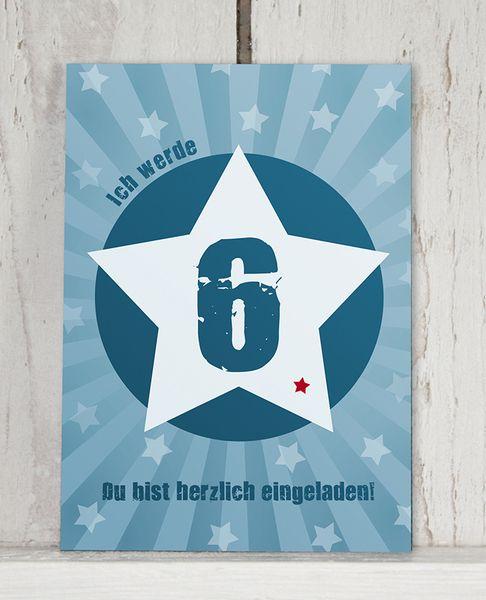 Einladung 6. GEBURTSTAG von KLEINE KERLE auf DaWanda.com