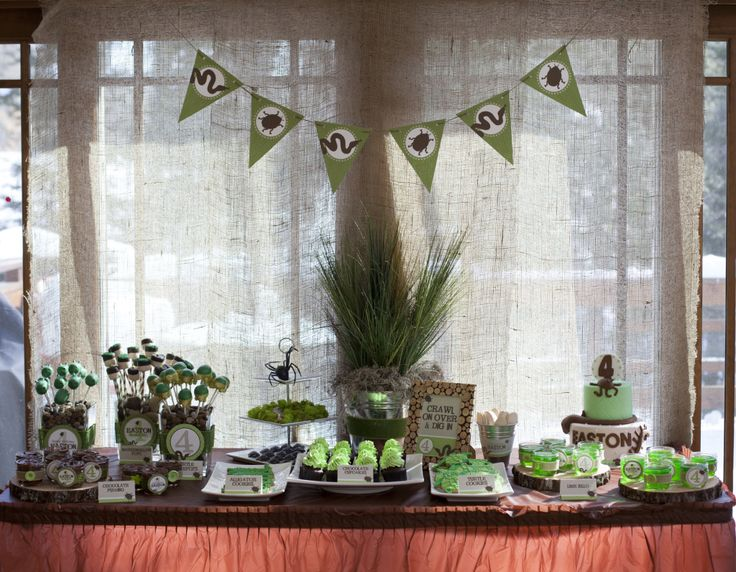Creepy Crawly-themed party for a little boy - such a great theme and so well executed! {Click to see more of this great party} #partyideaBirthday Odeas, Kids Birthday, Birthday Parties, Birthday Inspiration, 5Th Birthday, 1St Birthday, 2Nd Bday