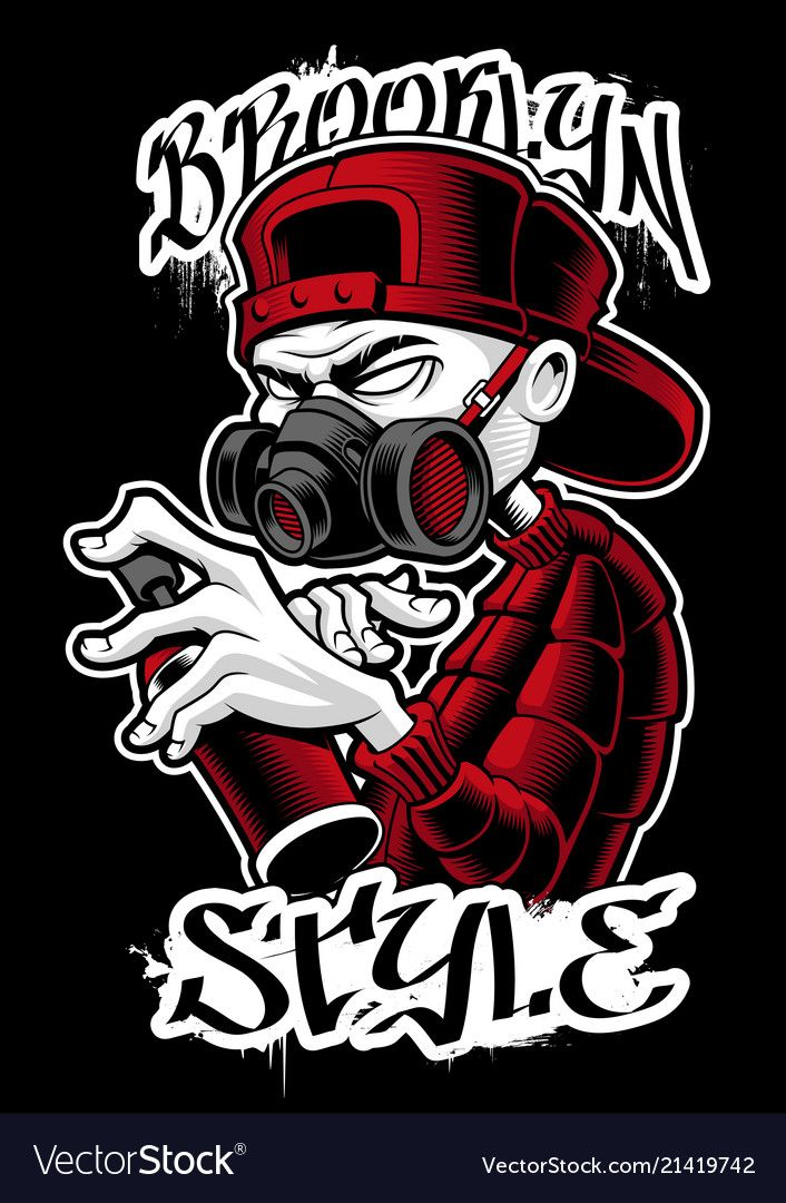 Graffiti Artist Vector Image On Desenhos De Tatuagem De Asas Design De Estampas Arte Do Hip Hop