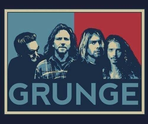 Grunge: Layne Staley (Alice in Chains), Eddie Vedder (Pearl Jam), Kurt Cobain (Nirvana), and Chris Cornell (Soundgarden). My. Life.