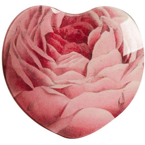 John Derian Rose Glass Heart ($115) found on Polyvore