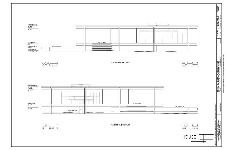 farnsworth house elevation