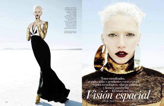 """Aline Weber em """"Visión espacial"""" - Vogue Espanha"""
